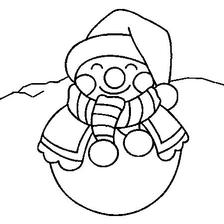 Noel - Bonhomme de neige coloriage ...